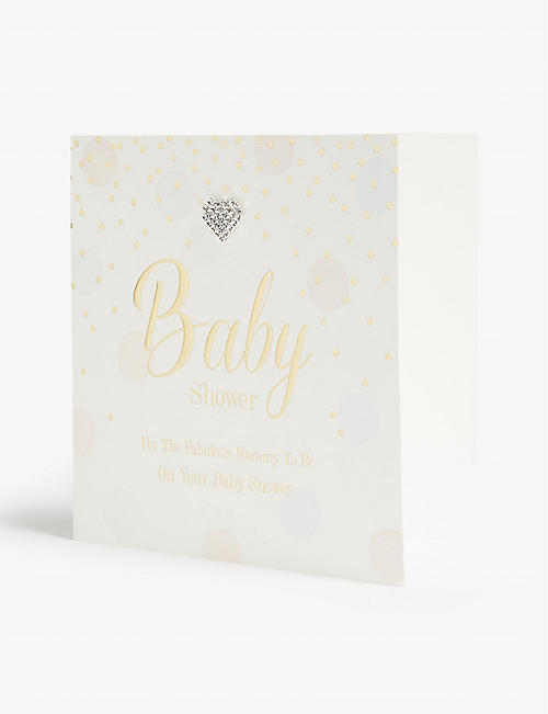 MAD DOTS Baby shower card