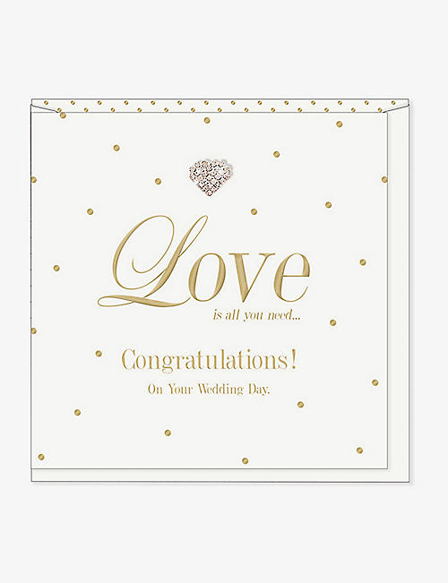 MAD DOTS: Love is all you need... wedding card 15 x 15cm