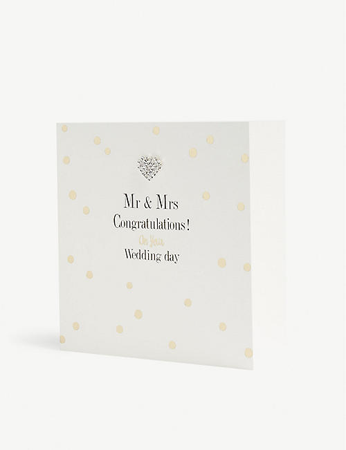 MAD DOTS Mr & Mrs wedding card