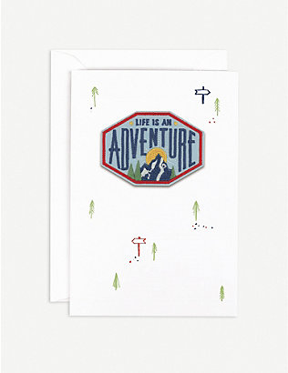 HOTCH POTCH: Life is an Adventure greetings card 15.3cm x 10.5cm