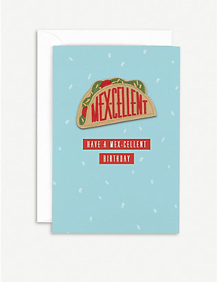 HOTCH POTCH: Mexcellent birthday greetings card 15.3cm x 10.5cm