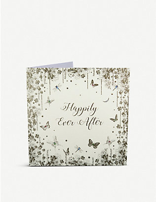 FIVE DOLLAR SHAKE: Happily Ever After wedding greetings card 22cm x 22cm