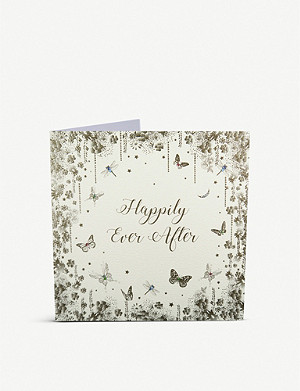 FIVE DOLLAR SHAKE Happily Ever After wedding greetings card 22cm x 22cm