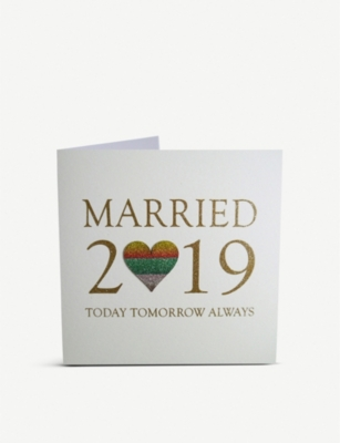 FIVE DOLLAR SHAKE Married 2019: Today, Tomorrow, Always greeting card 17x17cm