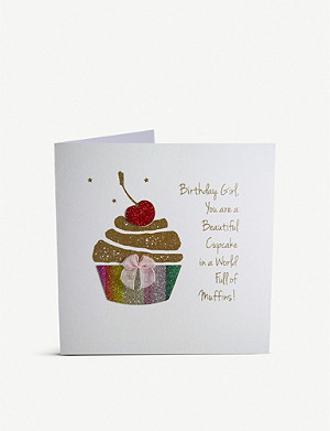 FIVE DOLLAR SHAKE A cupcake in a world full of muffins greetings card 16cm x 16cm