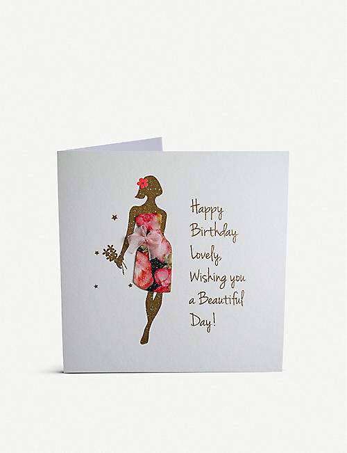 FIVE DOLLAR SHAKE: Happy Birthday Lovely greetings card 16cm x 16cm