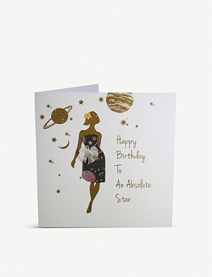 FIVE DOLLAR SHAKE Happy birthday to an absolute star greetings card 16cm x 16cm