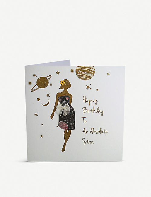 FIVE DOLLAR SHAKE: Happy birthday to an absolute star greetings card 16cm x 16cm