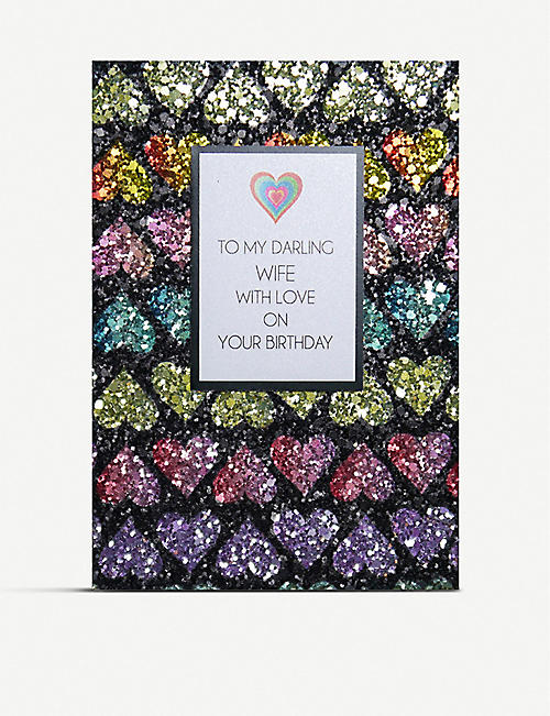 COUNTING STARS To my darling wife with love greetings card 16cm x 11cm