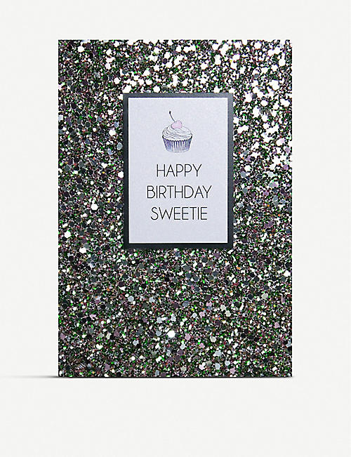COUNTING STARS: Happy birthday sweetie greetings card 16cm x 11cm