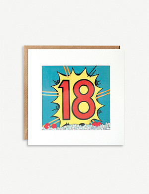 JAMES ELLIS Age Birthday 18 shakies greeting card 13x13cm
