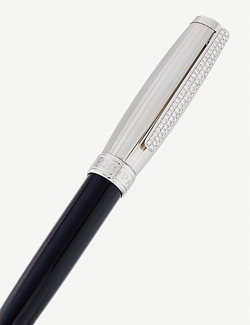 CHOPARD Allegro resin, palladium and diamond ballpoint pen