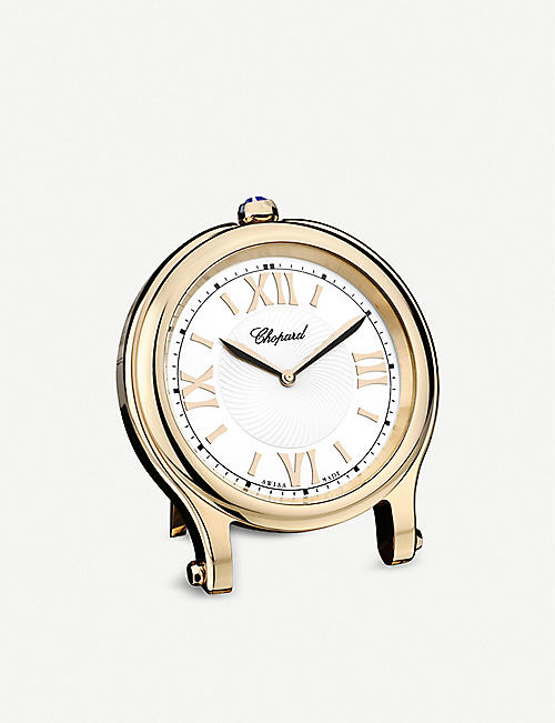 CHOPARD: Happy Sport rose-gold plated table clock 8cm