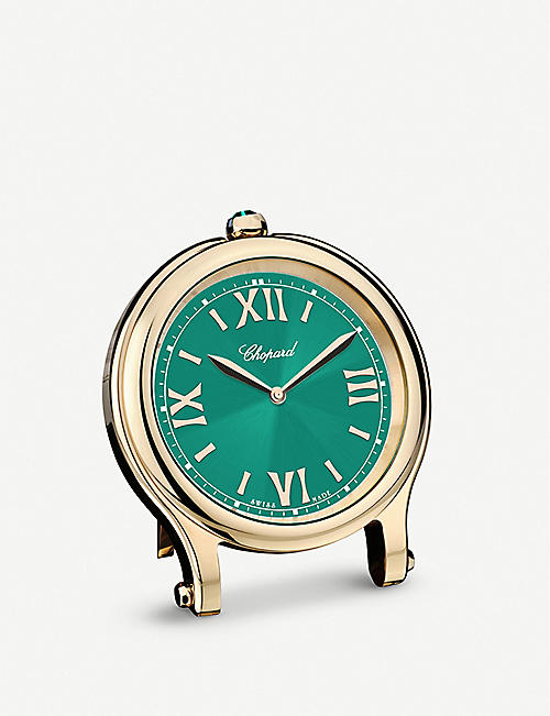 CHOPARD: Happy Sport rose gold-plated stainless steel clock 8cm