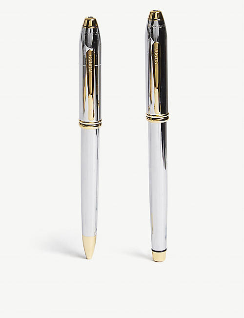 CROSS Townsend Medallist fountain and rollerball pen set