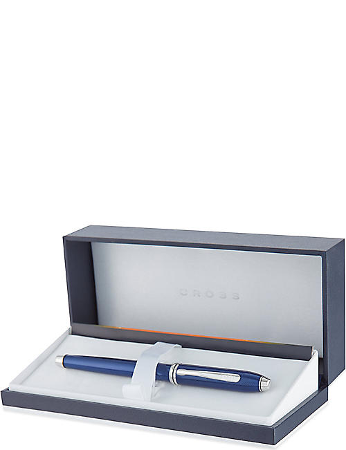 CROSS Townsend quartz blue rollerball pen