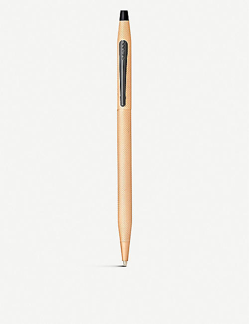 CROSS: Century Classic brushed rose-gold PVD ballpoint pen