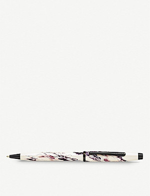 CROSS Everest marbled lacquer and chrome-plated ballpoint pen