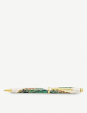 CROSS Borneo marbled lacquer and gold-plated ballpoint pen