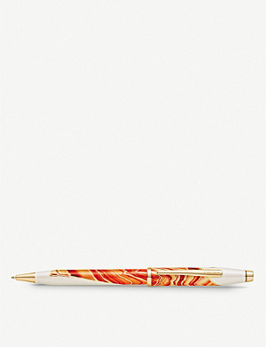 CROSS Antelope Canyon marbled lacquer and gold-plated ballpoint pen