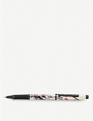 CROSS: Everest marbled lacquer and chrome-plated rollerball pen