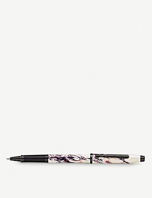 CROSS Everest marbled lacquer and chrome-plated rollerball pen