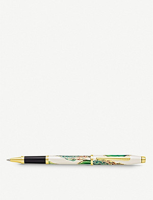 CROSS Borneo marbled lacquer and gold-plated rollerball pen