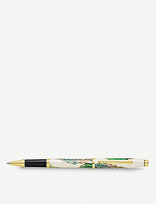 CROSS: Borneo marbled lacquer and gold-plated rollerball pen