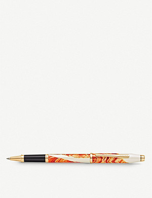 CROSS Antelope Canyon marbled lacquer and gold-plated rollerball pen
