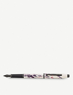 CROSS Everest marbled lacquer and chrome-plated fountain pen