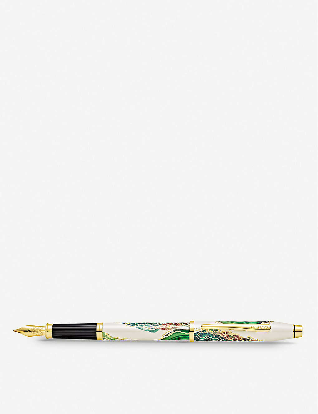 CROSS: Borneo marbled lacquer and gold-plated fountain pen
