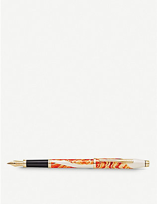 CROSS: Antelope Canyon marbled lacquer and gold-plated fountain pen