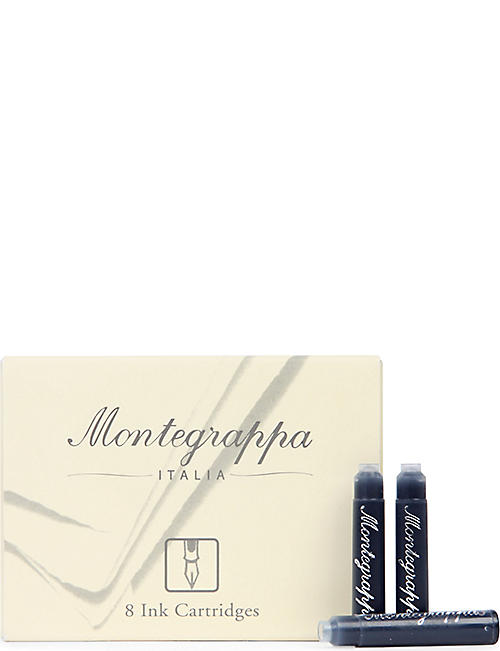 MONTEGRAPPA: Box of eight black refill cartridges