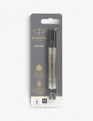 PARKER Quink black ink refills pack of two