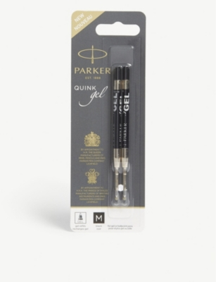 PARKER Quink Gel black ink refills pack of two