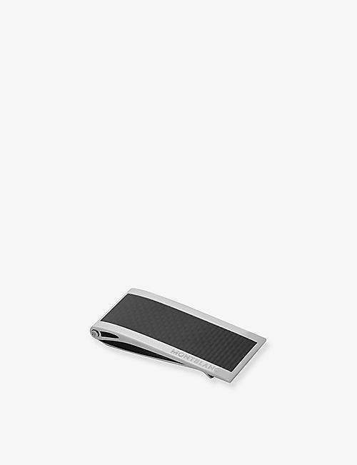 MONTBLANC: Stainless steel and carbon money clip