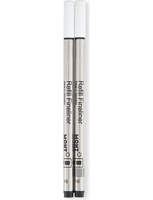 MONTBLANC Fineliner refills medium mystery black