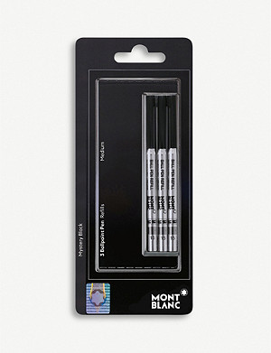 MONTBLANC Set of three mystery black ballpoint refills