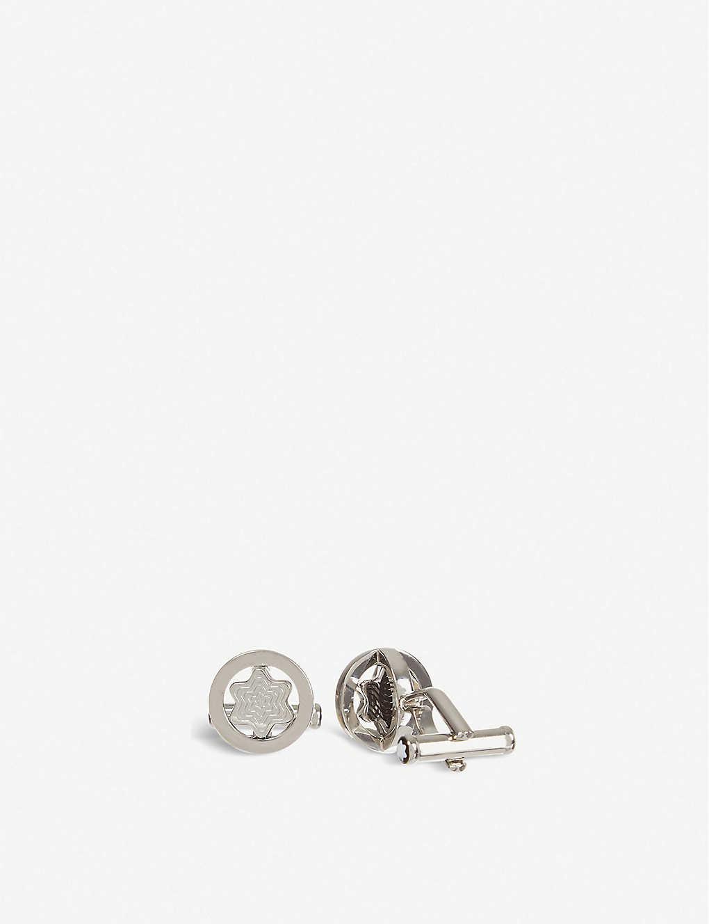 f3fa479e93009 MONTBLANC - Swivel star cufflinks | Selfridges.com