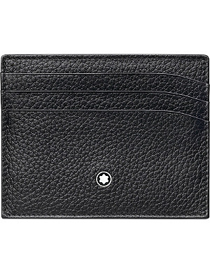 MONTBLANC Meisterstück grained leather card holder