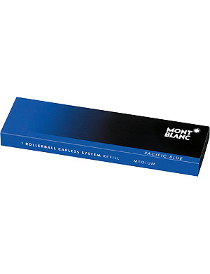 MONTBLANC Rollerball capless system refill (M) Pacific Blue