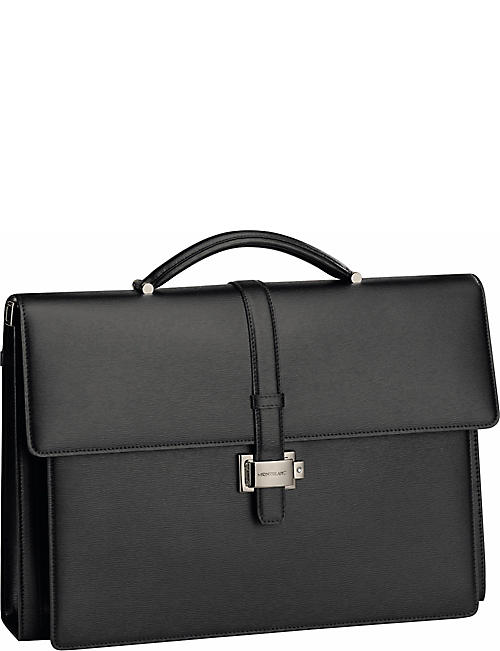 73717b8792a53 MONTBLANC Westside Double Gusset leather briefcase