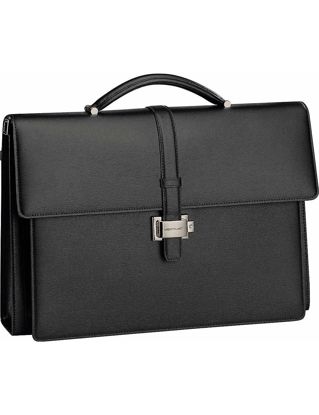 8626c2b690 MONTBLANC - Westside Double Gusset leather briefcase | Selfridges.comm