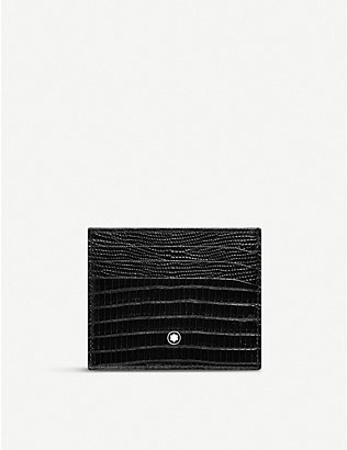 MONTBLANC: Six slot textured leather card holder