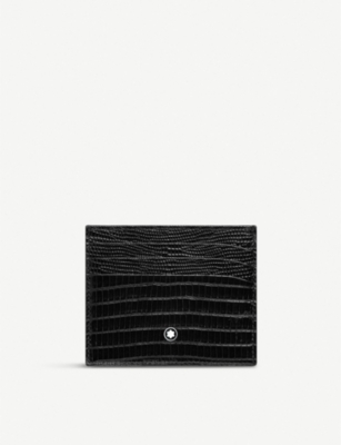 MONTBLANC Six slot textured leather card holder