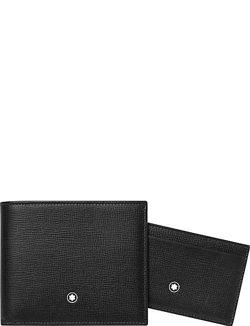 MONTBLANC: Leather wallet and pocket holder gift set