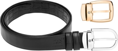 MONTBLANC Leather belt gift set