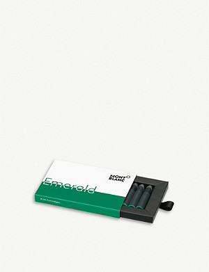 MONTBLANC Emerald Green ink cartridges 8-pack