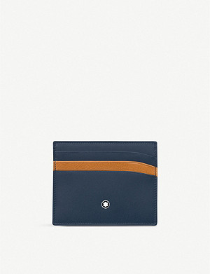 MONTBLANC Pocket contrast slot leather cardholder