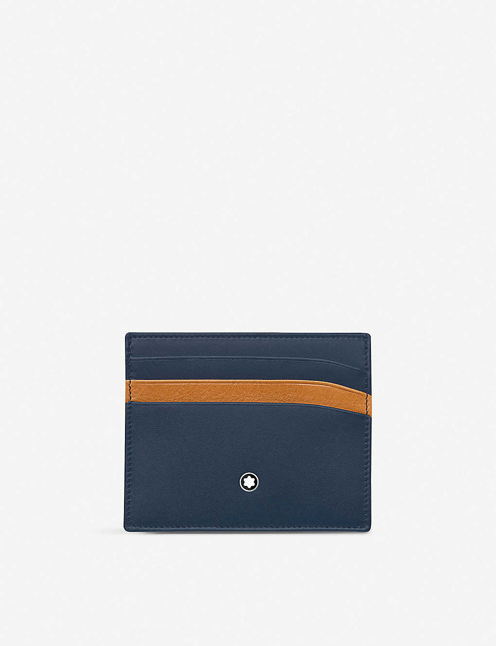 MONTBLANC: Pocket contrast slot leather cardholder
